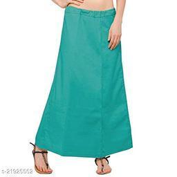 Women Saree Cotton Petticoat-Light Green-8 Part(Pack of 1)
