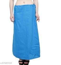 Women Saree Cotton Petticoat-Blue-8 Part(Pack of 1)