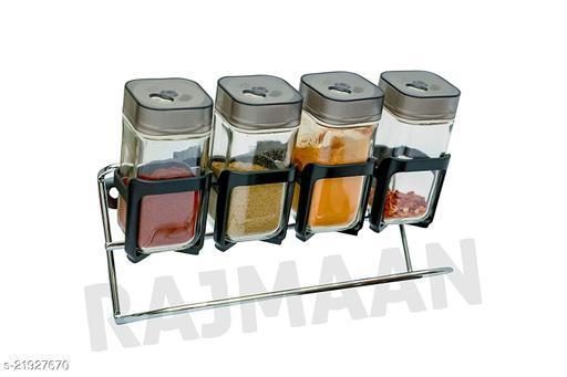 RAJMAAN Spice Rack- Adjust & Sprinkle (100 ml Each jar)revolving Spice Rack,Spice  Masala Storage Container Rack 4 Pieces