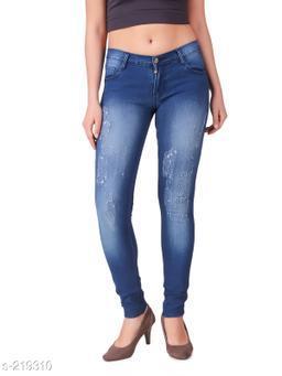 Trendy Denim Solid Women's Jeans
