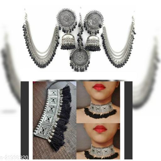Elite Glittering Women jewellery set