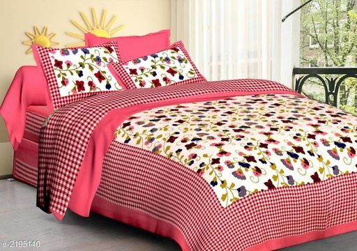 Colorful Cotton Printed Double Bedsheet