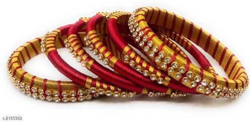 Silk Thread Bangles Set
