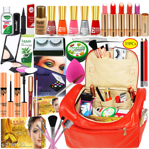Adbeni Combo - On Demand Bridal Makeup Combo With All Time Hit Cosmetic Article, Pack of 35, (GC1408)
