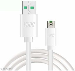 Kazy 5V/4A Compatible Vooc SuperFast Data Sync Charging Cable for Oppo F9 F9 pro Oppo F11 Pro & All Oppo Smartphone -White