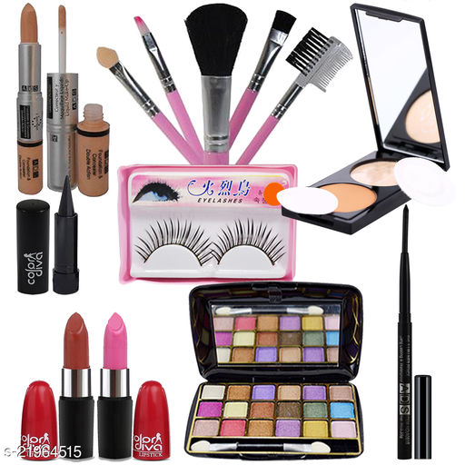 Adbeni Combo - Perfect Face Makeup With Brush Set, Pack of 13, (GC1444)
