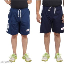 Boy's Cotton Hosiery Relaxed Shorts/Bermuda - Pack of 2