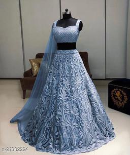 Stylish Grey Color Designer Lehenga Choli