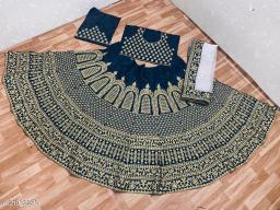 Morpich Color Embroidery Work Wedding Wear Lehenga Choli