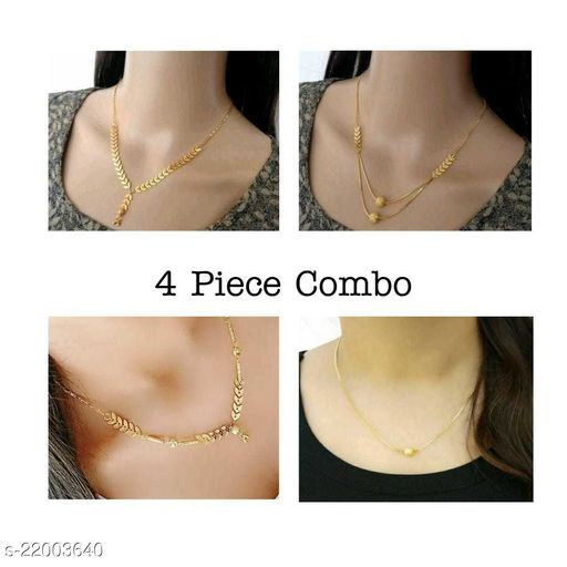 Charming New Trendy Necklaces (4 pcs combo)