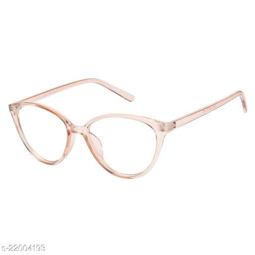 LOF Transparent Anti Reflective Coating Cat Eye Women Spectacle Frame (LS-2360_5 I50I Transparent Lens)