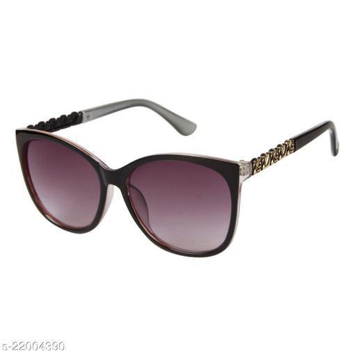 LOF Transparent Black UV Protected Wayfarer Women Sunglass (LS-D15110_3 I58I Grey Color Lens)