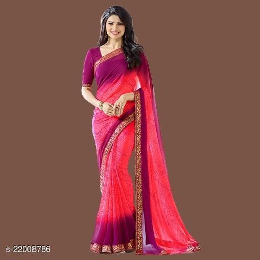 VC Daily wear fancy Georgette saree