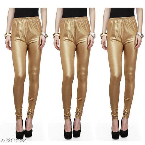 Fashion Guru Trading Golden Shimmer Legging Pack of 3