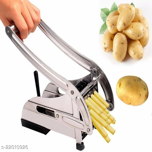 Stainless Steel Home French Fries Potato Chips Strip Cutting Cutter Machine Maker Slicer Chopper with 2 Chips Cutter