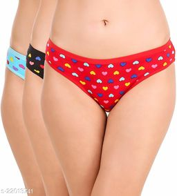 Women Hipster Red Hosiery Panty (Pack of 3)