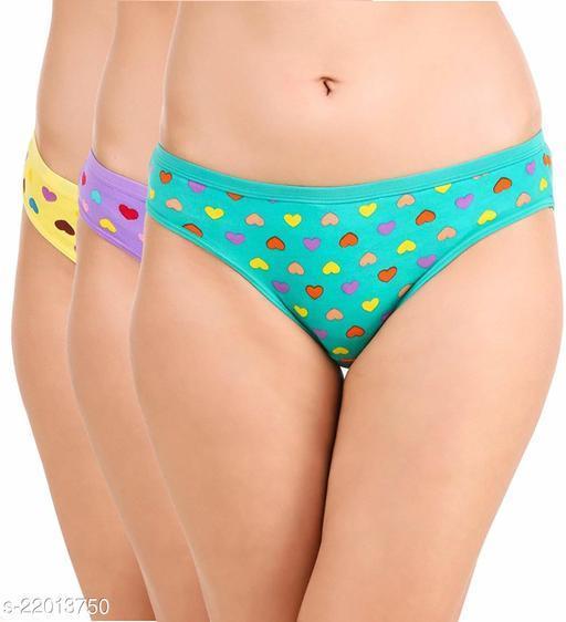 Women Hipster Green Hosiery Panty (Pack of 3)