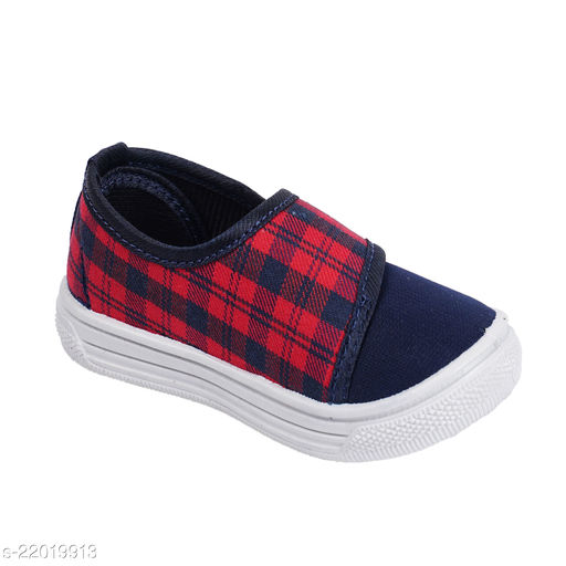 Attractive Boy's Canvas Red Casual Shoes