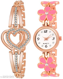 Unique Design Watch With Free Bracelet analog Watch For Girls And Womens