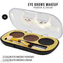 Mars 2 Eyebrow Powder, 1 Eyebrow Cream,(EB12-03), 6g With Lilium Hand Cleanser