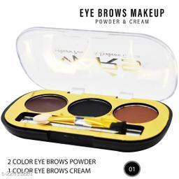Mars 2 Eyebrow Powder, 1 Eyebrow Cream,(EB12-02), 6g With Lilium Hand Cleanser