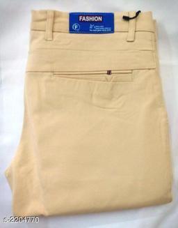 Trendy Cotton Solid Trouser