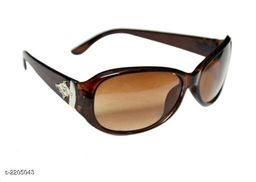 Trendy  Women's Brown Poly Carbonate Sunglasses