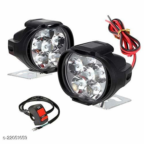 Imported 6 LED Fog Light Mirror Mount Driving Spot Head Lamp with Switch for Motorcycle and Cars