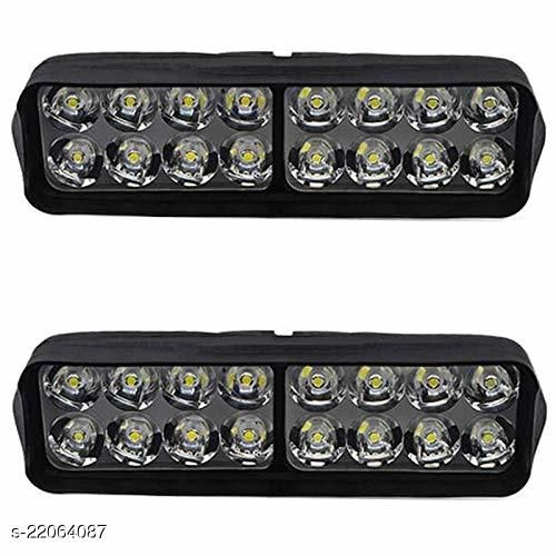 16 LED Fog Light for Bikes and Cars High Power, Heavy clamp and Strong ABS Plastic Fog Lamp