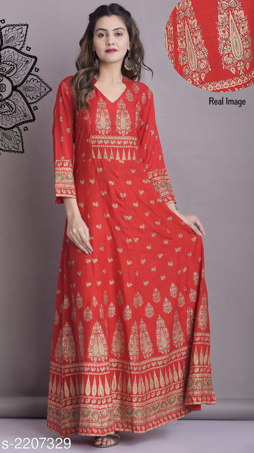 Kurta Sets Classy Designer Women's Kurti  *Fabric* Kurti- Rayon  *Sleeves* Sleeves Are Included  *Size* Kurti- S - 36 in, M - 38 in, L - 40 in, XL - 42 in, XXL - 44 in  *Length * Kurti- Up To 57 in  *Type* Stitched  *Description* It Has 1 Piece Of Women's Kurti  *Work * Kurti-  Mirror Work  *Sizes Available* S, M, L, XL, XXL, XXXL *   Catalog Rating: ★4.1 (45)  Catalog Name: Women's Striped Rayon Kurta Sets CatalogID_293305 C74-SC1003 Code: 115-2207329-