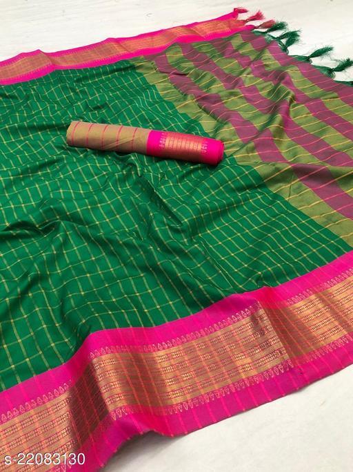 Checkered Bollywood Pure Cotton Saree