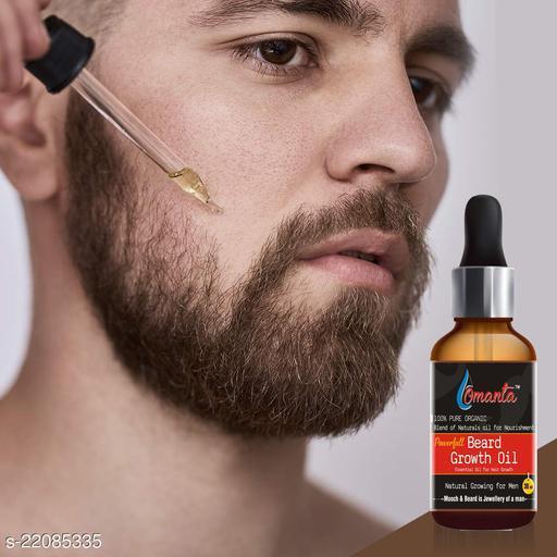 Omanta Powerfull Beard Oil, Made in India Hair Oil  (30 ml)
