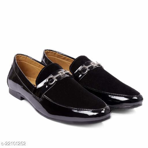 Trendy Men's Pu Black Loafers