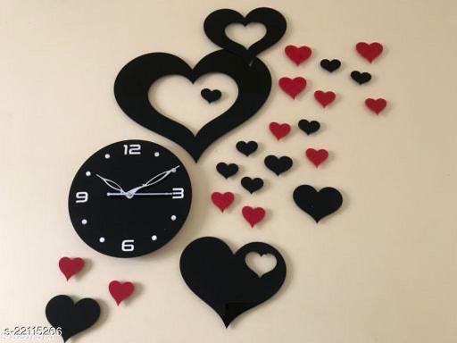 UNIQE MULTY HEART ACRYLIC WALL CLOCK