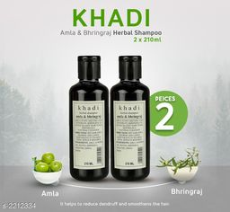 Khadi Amla Bhringraj shampoo 420ml ( Pak of 2 )