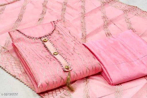 Semi Modal Gota Patti Work Dress Material