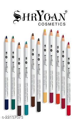 Shryoan Cosmetics Long Lasting Lip Formula Professional Lipliner Eyeliner Pencil Color Set Of 11