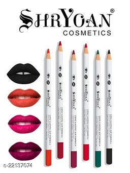 Shryoan Cosmetics Long Lasting Lip Formula Professional Lipliner Eyeliner Pencil Color Set Of 6