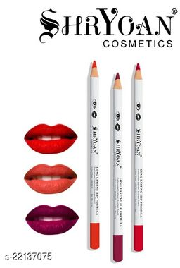 Shryoan Cosmetics Long Lasting Lip Formula Professional Lipliner Eyeliner Pencil Color Set Of 3