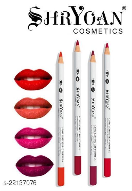 Shryoan Cosmetics Long Lasting Lip Formula Professional Lipliner Eyeliner Pencil Color Set Of 4