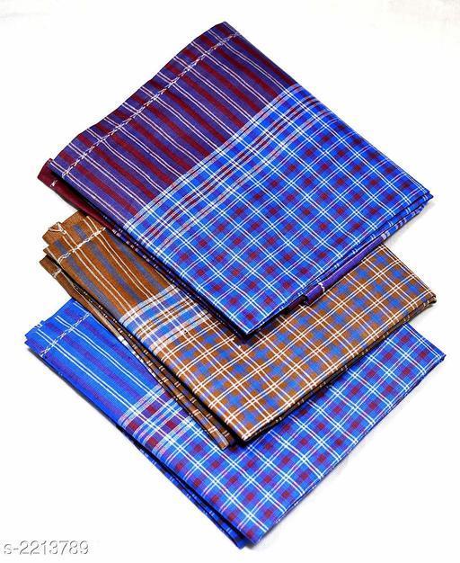 Elite Comfy Cotton Handkerchiefs ( Pack Of 12)