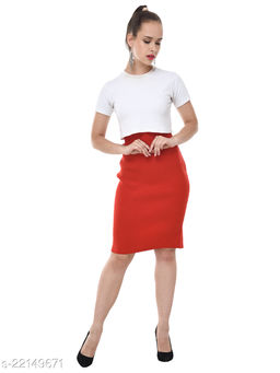 Fancy Pencil Fit Streachable SkinFriendly Comfortable Skirt