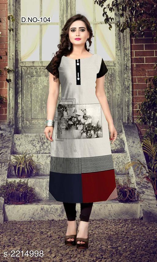 Kurtis & Kurtas Party Wear American Crepe Printed Kurti  *Fabric* American Crepe  *Sleeves* Sleeve Are Included  *Size* L - 40 in, XL - 42 in, XXL - 44 in  *Length* Up To 47 in  *Type* Stitched  *Description* It Has 1 Piece Of Women's Kurti  *Work* Printed  *Sizes Available* L, XL, XXL *    Catalog Name: Jivika Party Wear American Crepe Printed Kurtis Vol 9 CatalogID_294464 C74-SC1001 Code: 803-2214998-