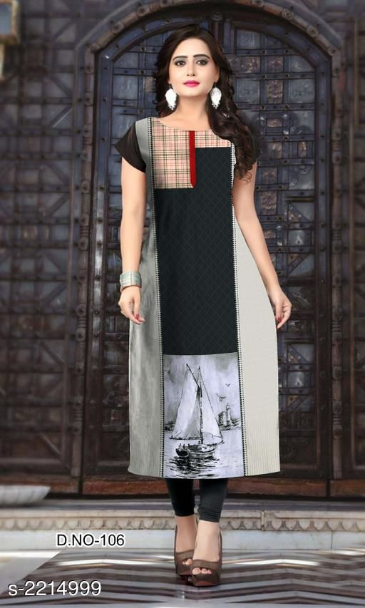 Kurtis & Kurtas Party Wear American Crepe Printed Kurti  *Fabric* American Crepe  *Sleeves* Sleeve Are Included  *Size* L - 40 in, XL - 42 in, XXL - 44 in  *Length* Up To 47 in  *Type* Stitched  *Description* It Has 1 Piece Of Women's Kurti  *Work* Printed  *Sizes Available* L, XL, XXL *    Catalog Name: Jivika Party Wear American Crepe Printed Kurtis Vol 9 CatalogID_294464 C74-SC1001 Code: 803-2214999-