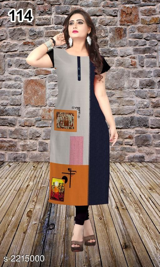 Kurtis & Kurtas Party Wear American Crepe Printed Kurti  *Fabric* American Crepe  *Sleeves* Sleeve Are Included  *Size* L - 40 in, XL - 42 in, XXL - 44 in  *Length* Up To 47 in  *Type* Stitched  *Description* It Has 1 Piece Of Women's Kurti  *Work* Printed  *Sizes Available* L, XL, XXL *    Catalog Name: Jivika Party Wear American Crepe Printed Kurtis Vol 9 CatalogID_294464 C74-SC1001 Code: 803-2215000-