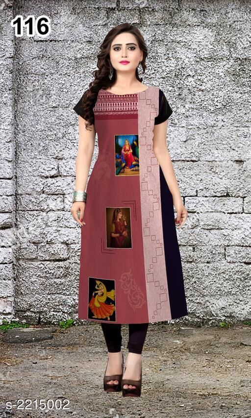 Kurtis & Kurtas Party Wear American Crepe Printed Kurti  *Fabric* American Crepe  *Sleeves* Sleeve Are Included  *Size* L - 40 in, XL - 42 in, XXL - 44 in  *Length* Up To 47 in  *Type* Stitched  *Description* It Has 1 Piece Of Women's Kurti  *Work* Printed  *Sizes Available* L, XL, XXL *    Catalog Name: Jivika Party Wear American Crepe Printed Kurtis Vol 9 CatalogID_294464 C74-SC1001 Code: 803-2215002-