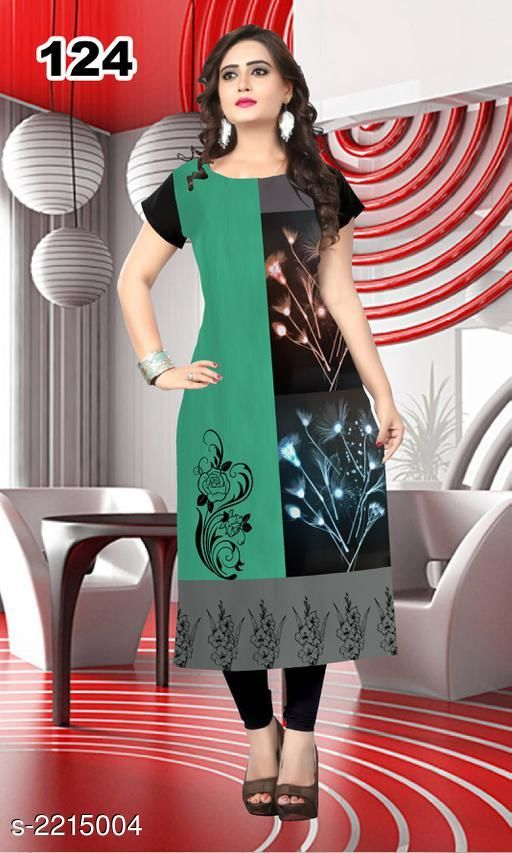 Kurtis & Kurtas Party Wear American Crepe Printed Kurti  *Fabric* American Crepe  *Sleeves* Sleeve Are Included  *Size* L - 40 in, XL - 42 in, XXL - 44 in  *Length* Up To 47 in  *Type* Stitched  *Description* It Has 1 Piece Of Women's Kurti  *Work* Printed  *Sizes Available* L, XL, XXL *    Catalog Name: Jivika Party Wear American Crepe Printed Kurtis Vol 9 CatalogID_294464 C74-SC1001 Code: 803-2215004-