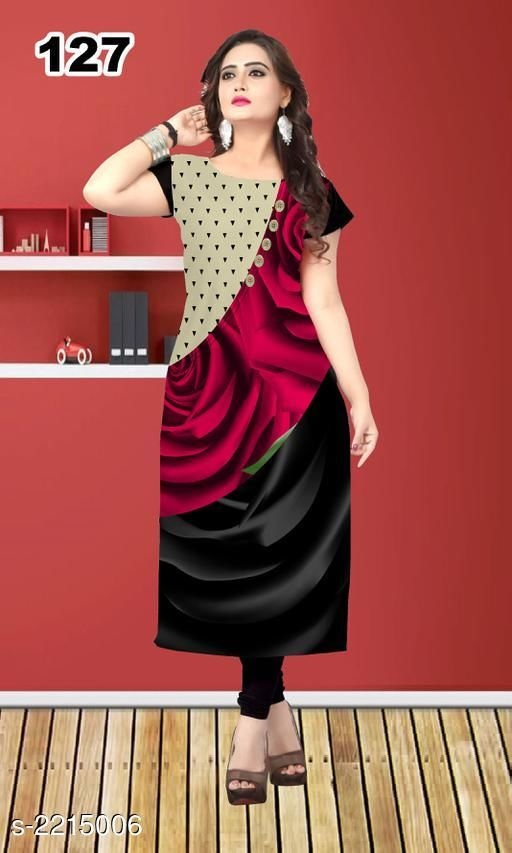 Kurtis & Kurtas Party Wear American Crepe Printed Kurti  *Fabric* American Crepe  *Sleeves* Sleeve Are Included  *Size* L - 40 in, XL - 42 in, XXL - 44 in  *Length* Up To 47 in  *Type* Stitched  *Description* It Has 1 Piece Of Women's Kurti  *Work* Printed  *Sizes Available* L, XL, XXL *    Catalog Name: Jivika Party Wear American Crepe Printed Kurtis Vol 9 CatalogID_294464 C74-SC1001 Code: 803-2215006-