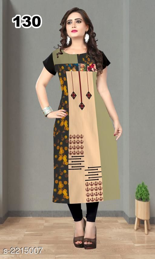 Kurtis & Kurtas Party Wear American Crepe Printed Kurti  *Fabric* American Crepe  *Sleeves* Sleeve Are Included  *Size* L - 40 in, XL - 42 in, XXL - 44 in  *Length* Up To 47 in  *Type* Stitched  *Description* It Has 1 Piece Of Women's Kurti  *Work* Printed  *Sizes Available* L, XL, XXL *    Catalog Name: Jivika Party Wear American Crepe Printed Kurtis Vol 9 CatalogID_294464 C74-SC1001 Code: 803-2215007-