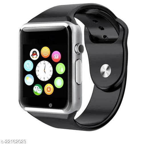 Goosprey A1 Bluetooth Smartwatch Silver Compatible with Android and IOS Mobiles